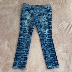 TORRID• acid wash tie-dye skinny jeans
